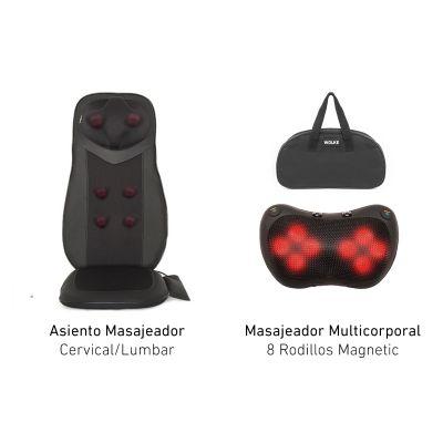 Asiento y masajeadores Wolke para aliviar tensiones musculares en todo el cuerpo